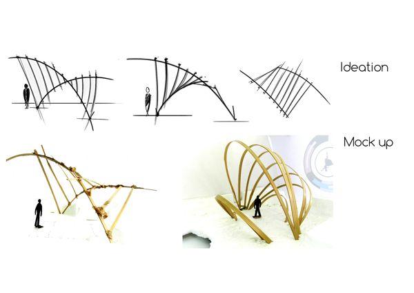 Bamboo Structure by Ajinkya Barve, via Behance