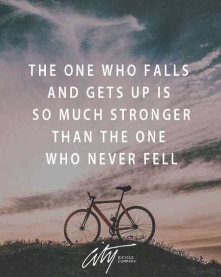 Inspirational Quotes // The one who falls and gets up is so much stronger than the one who never fell.