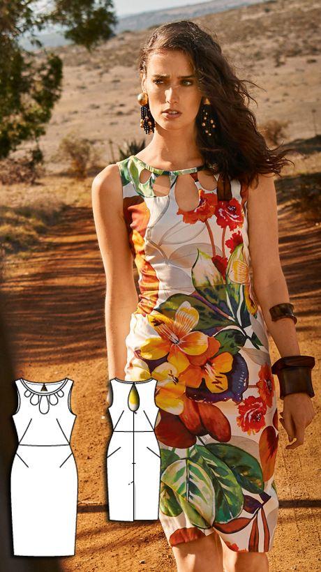 Dress Burda Jun 2016 #112 Pattern $5.99: http://www.burdastyle.com/pattern_store/patterns/cutout-dress-062016 https://www.burdastyle.de/chameleon/mediapool/72bad6c3-817a-ddd8-870d-ca479d22b3ce.jpg