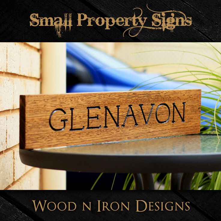 Tasmanian Oak small Property sign.