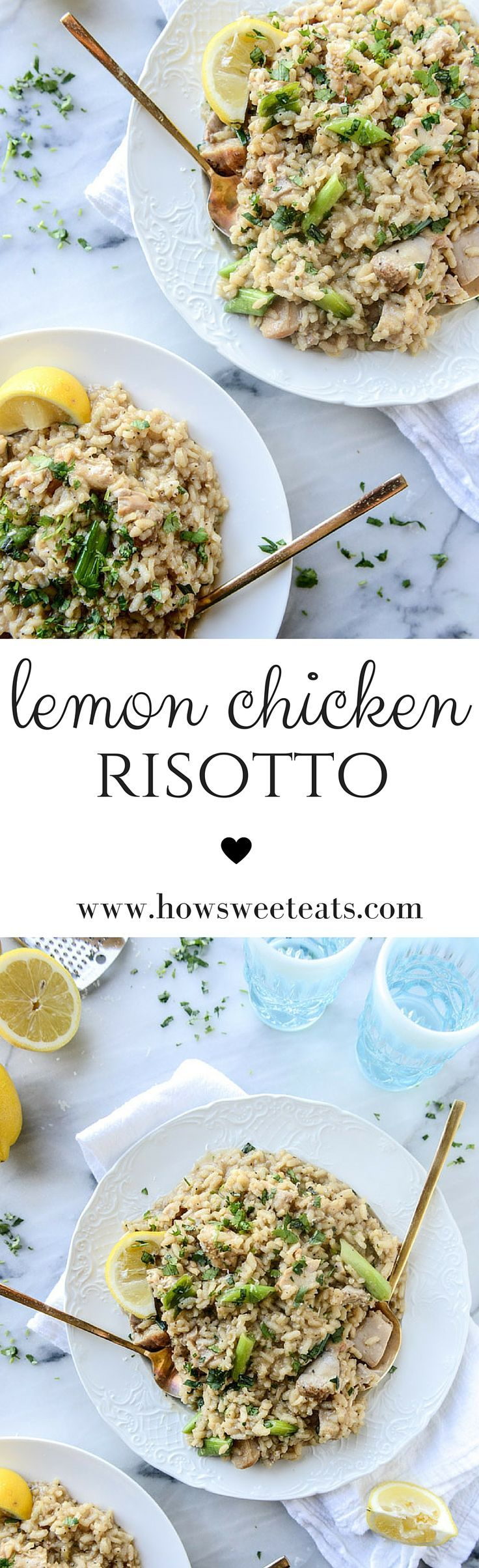 lemon chicken risotto by /howsweeteats/ I http://howsweeteats.com