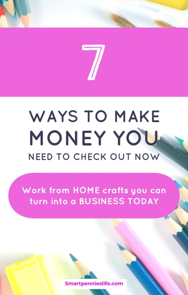 7 Craft Business Ideas To Makes Money Work From Home Jobs How To