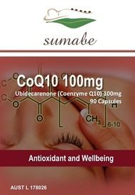 Sumabe CoQ10 100mg, Antioxidant and wellbeing, 90 Capsules