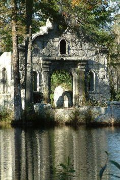 The Cypress Gardens Ruins in Moncks Corner, South Carolina. Part of the movie set The Patriot left in ruins.