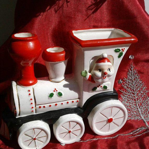 Vintage Santa Waving from a Locomotive by MercyMeVintageFinds