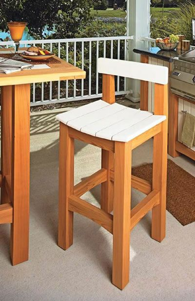 at my wife knew that I would prefer a stool/chair with a back.  The prior pub table stools were plans that did not i