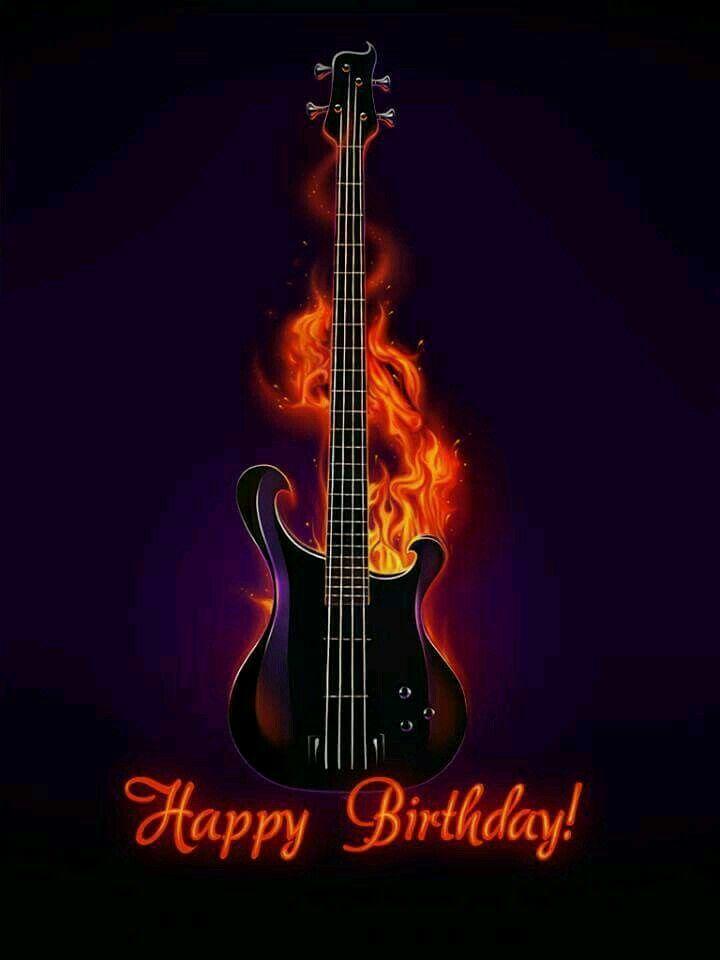 День рождения открытка гитара, картинок надписями открытка