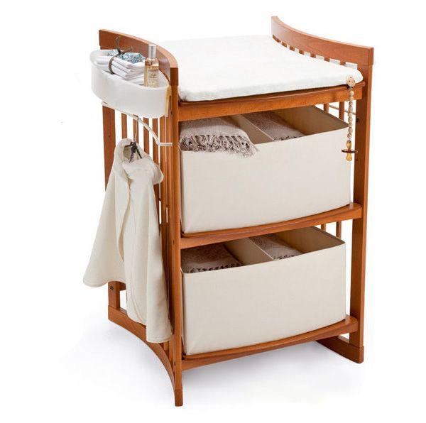 Stokke - Scrivania Stokke® Care™ | Materiali: Faggio Tinto | un fasciatoio che si trasforma in scrivania... | #design #interiordesign #italiandesign #madeinitaly #arredamento |