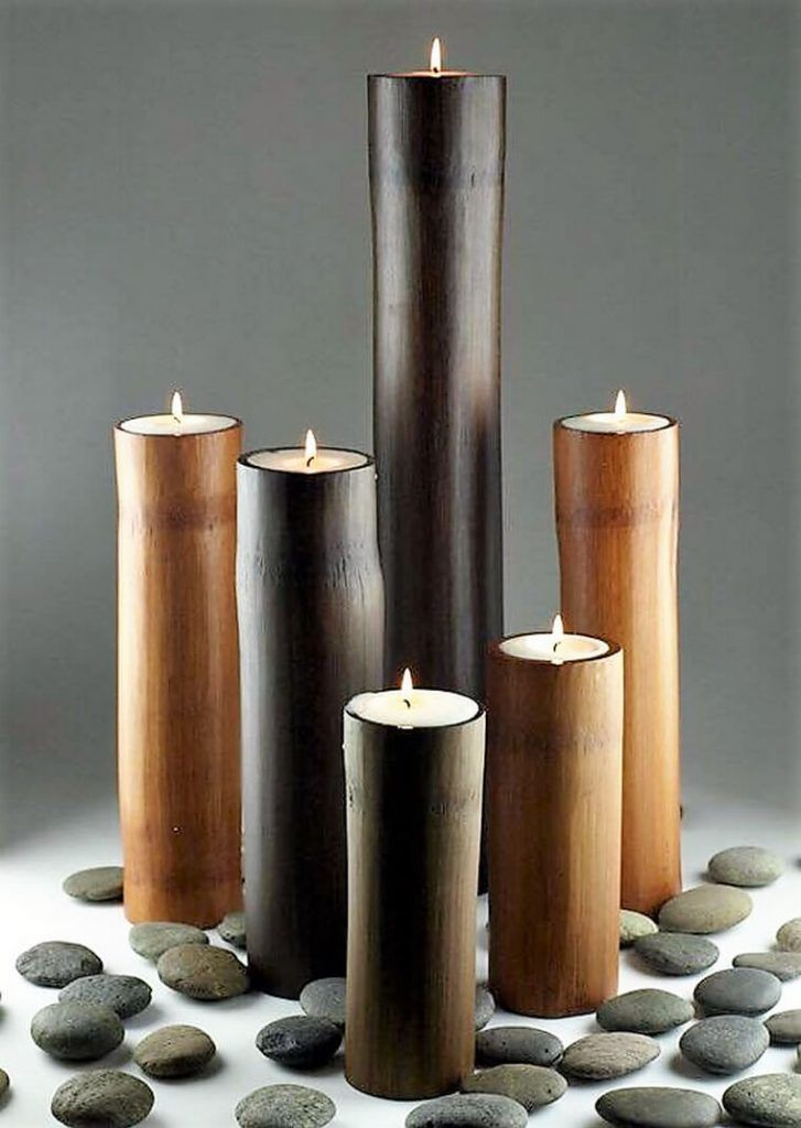 Creative Ideas With Bamboo With Images Bamboo Candle Bamboo