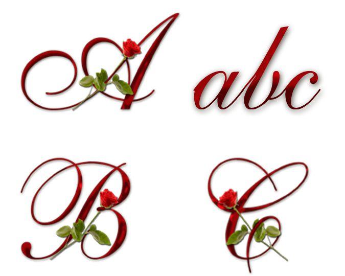 June Birth Flower Rose Alphabet
