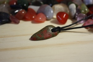 Unakite amulet-For Keeps gemstone accessories