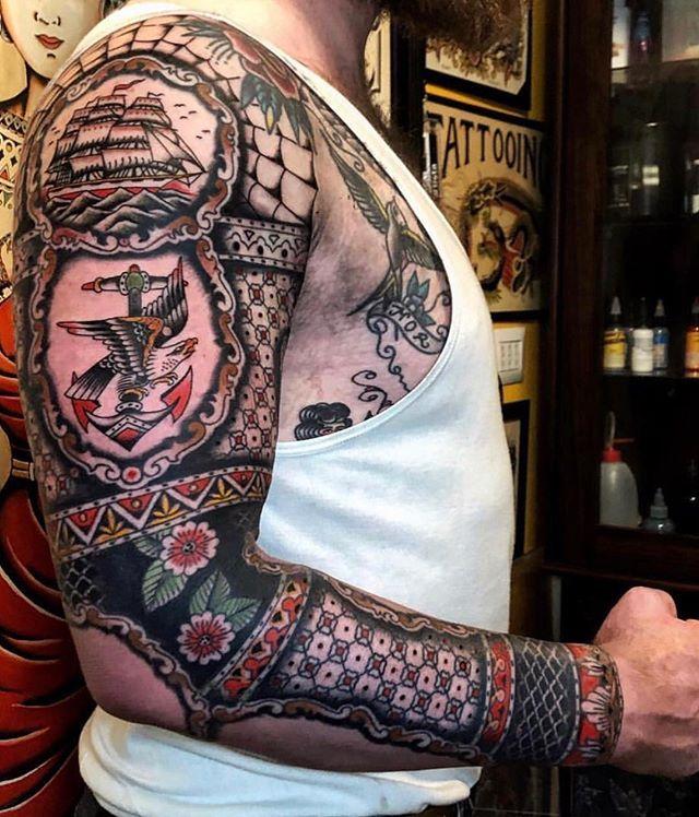 Suche Inspiration für ein Old School Tattoo.   – Tradional tattoo