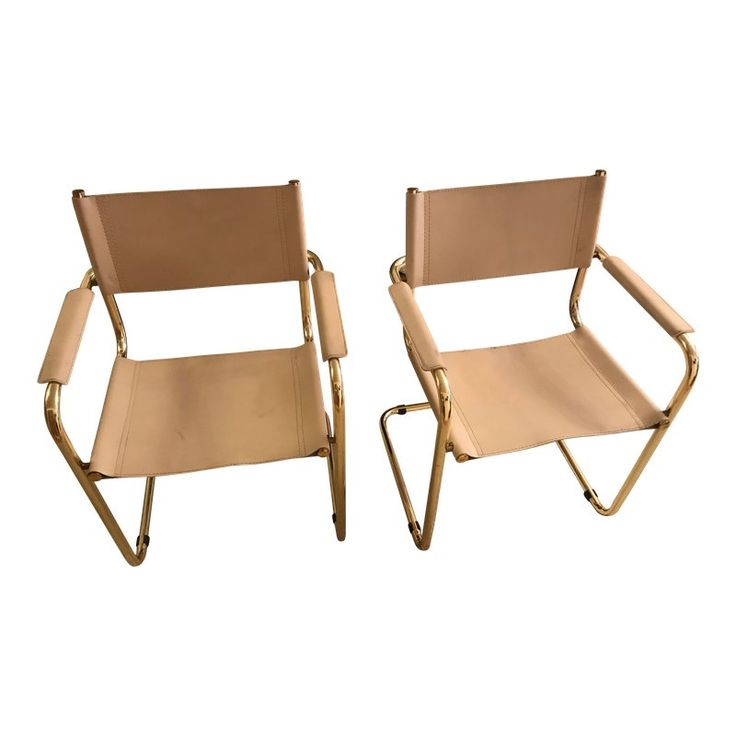1960s Vintage Mart Stam Cantilevered Chairs a Pair in