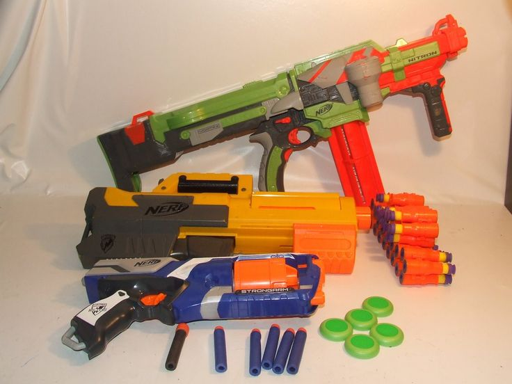 NERF Gun Bundle Vortex Nitron Deploy CS-6 Strong Arm N Strike All Working