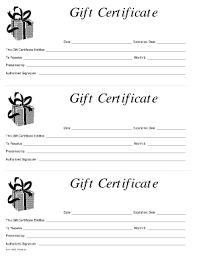 Image result for blank gift certificate