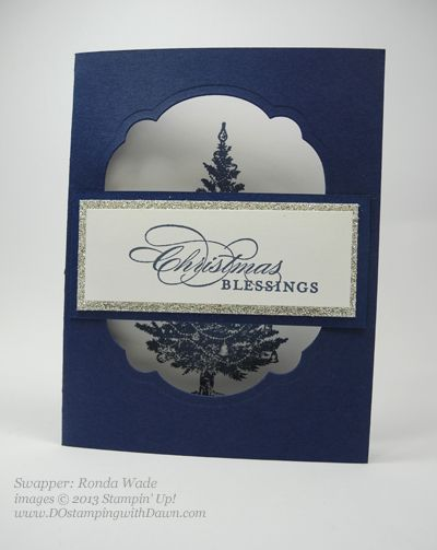 DOstamping, Stampin' Up!, Special Season stamp set, 2013 Holiday, Founder's Circle Swap, Ronda Wade