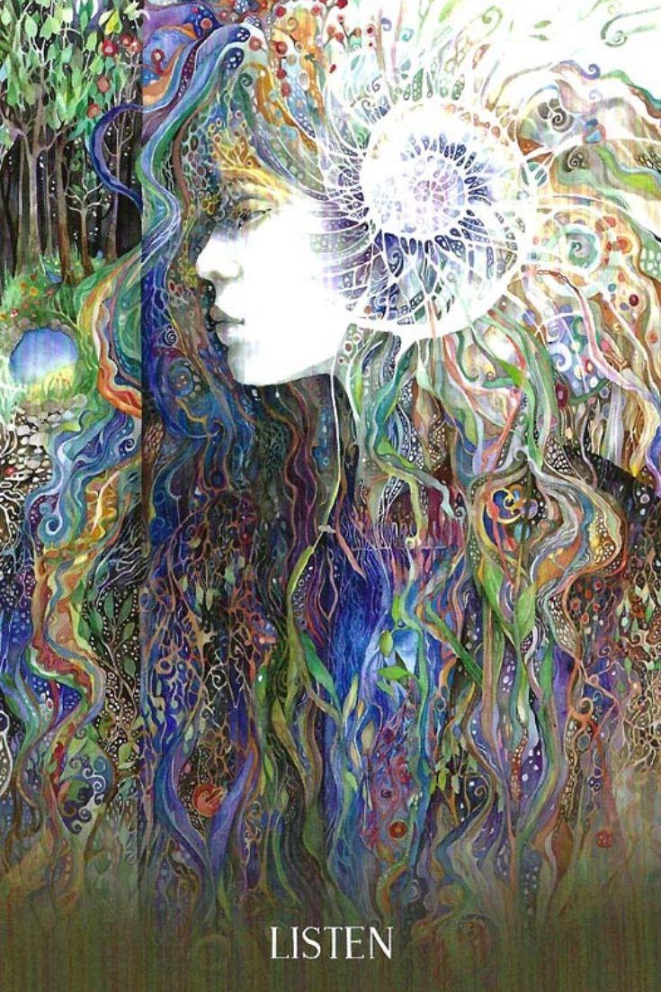Listen From The Sacred Earth Oracle Deck Tarot Cards Art Card Art Fantasy Art