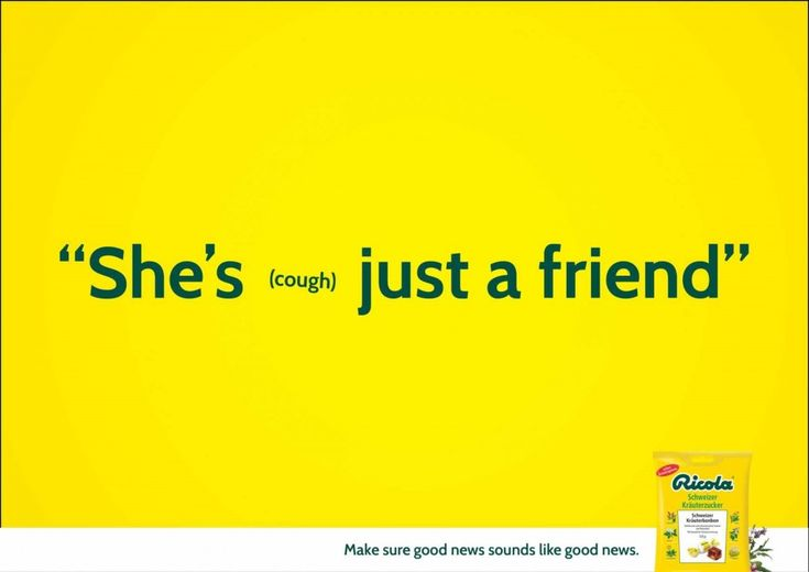 The 'good news' print campaign – by Ricola