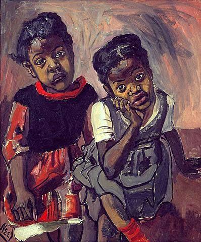 Alice Neel - Two Girls in Spanish Harlem  Art Experience NYC  www.artexperiencenyc.com