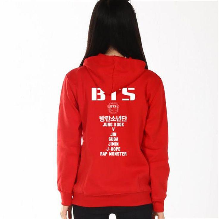 Dmart7deal Plus Size Women'S Clothing Hoodies Sweatshirts BTS Hoodie Cotton Black Red Grey Hoody Sweatshirts Women Hoodies 60313
