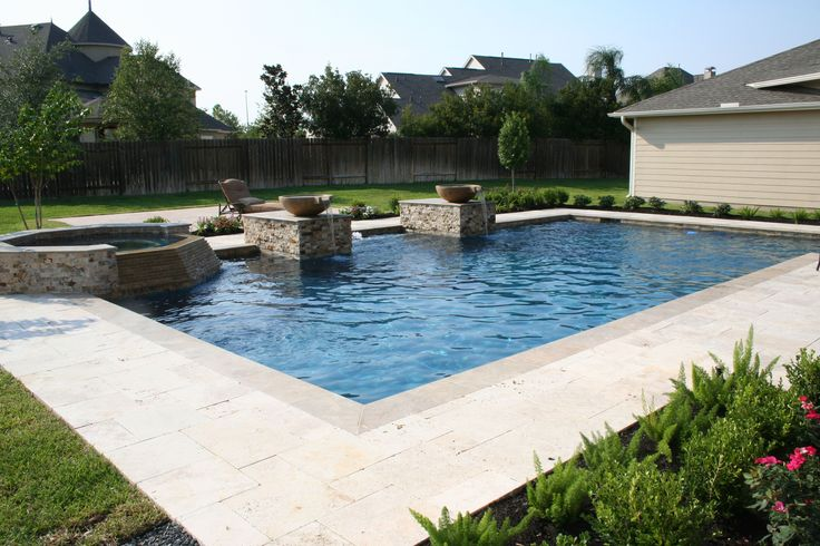 82 best pools spas images on pinterest pool spa pool for Pool design katy tx