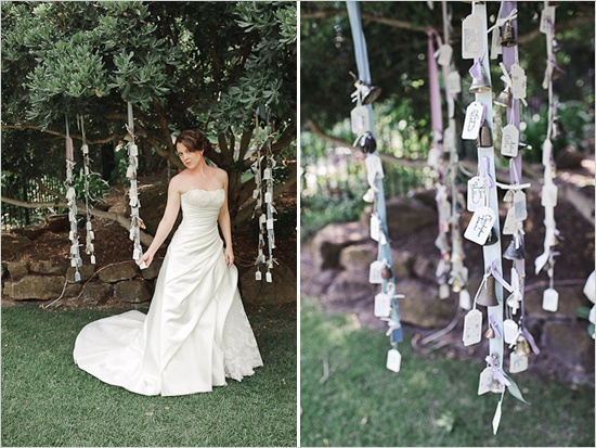 Strands Of Bells Hanging From The Trees Fun Wedding Decor Ideas