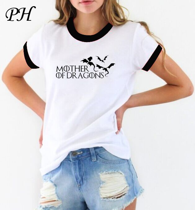 Find More T-Shirts Information about Hot 2016 T shirt Women Game of Thrones Ringer Tee Shirt Femme Mother of Dragons T Shirt WOMEN Short Sleeve Cool O neck Tops Tees,High Quality women specialized,China shirt polo women Suppliers, Cheap women denim shirt from Pinhe Clothing Co.,Ltd on Aliexpress.com