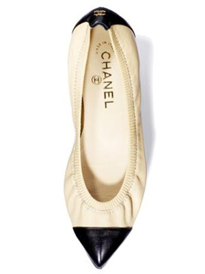 Chanel pointy flats