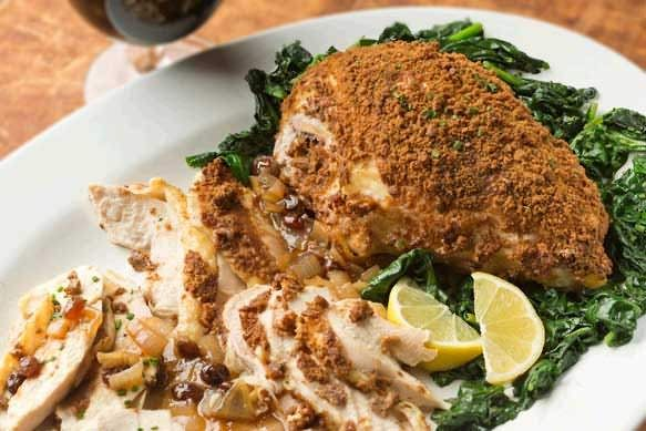 Gingersnap Chicken Breast With Samuel Adams Raisin Gravy made with #OctoberFest #cookingwithbeer