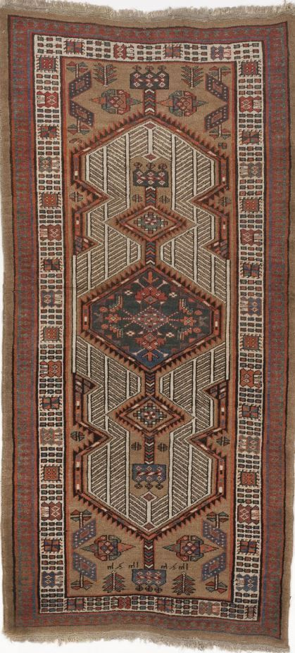 "Antique North West Persian runner rug. 3'x 6'8"" #Handknotted #Geometric"