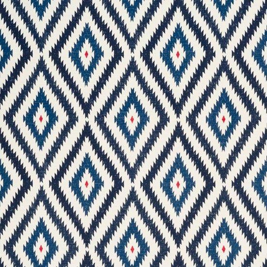 Little Aztec fabric from Bennison | Modern fabrics | Living room | Homes & Gardens | Housetohome.co.uk