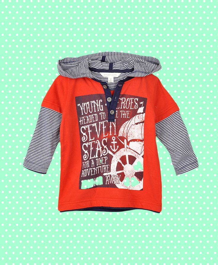 Pumpkin Patch Grandpa Tee with Mock Stripe Hoodie - 100% cotton, available in sizes 12-18m to 6 years http://www.pumpkinpatchkids.com
