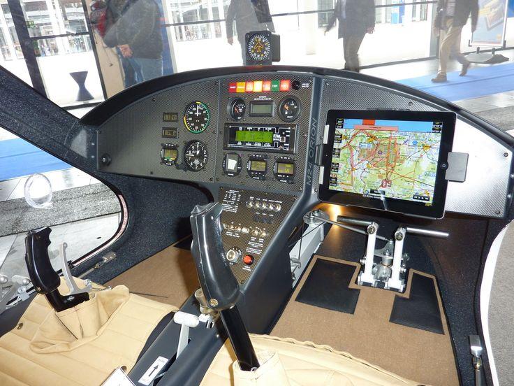 Magni M24 Orion VIP Gyrocopter cockpit.