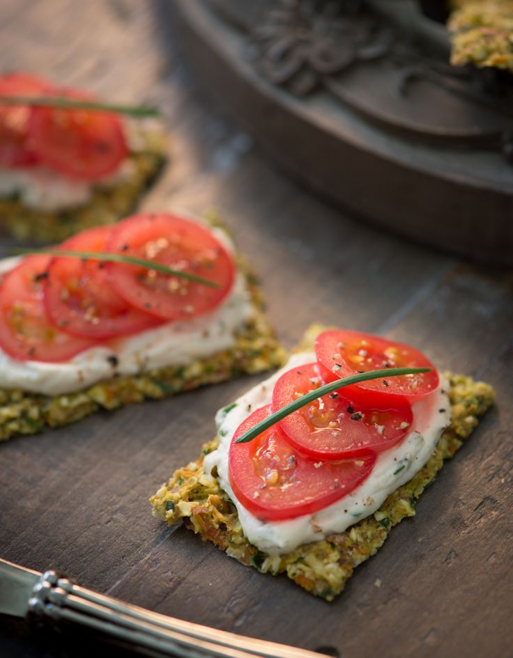 Chive Vegan Cheese Spread and Veggie Crackers
