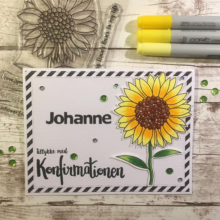Ohhhh that sunflower is just beautiful  a big flower for the big day ⭐️ my favorite stamps for Konfirmations card this season is definitely from @krumspring_  #mitkammer #cardmaking #copiccoloring #krumspringstamps #formysunflower #konfirmation2017 #konfirmand #sunflower #bigday #specielorder #craftygirl #paperlove #yellow #sequins #green #kartendesign #cardmagic #cardmakinghobby #handmadewithlove #happytime