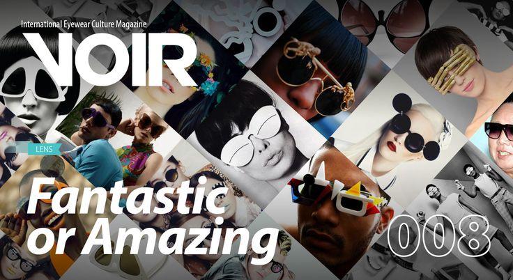 VOIR International Eyewear Culture Magazine features Mercura Pop Art Sunglasses cover of 008