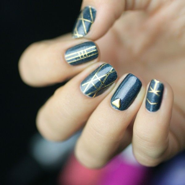 17 best ideas about art deco nails on pinterest nail art ongles and chevron manicure. Black Bedroom Furniture Sets. Home Design Ideas
