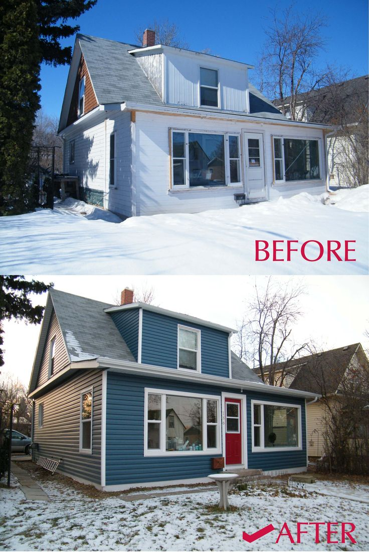 Before After Siding In Gentek S Coast Blue And Gentek