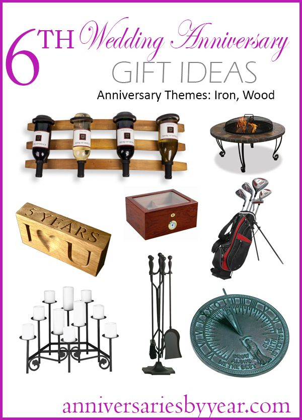 6th Anniversary Gift ideas for Iron and Wood themes.  #ironanniversary #woodanniversary #weddinganniversary #anniversaryideas #iron #wood #ideas #gift #anniversary