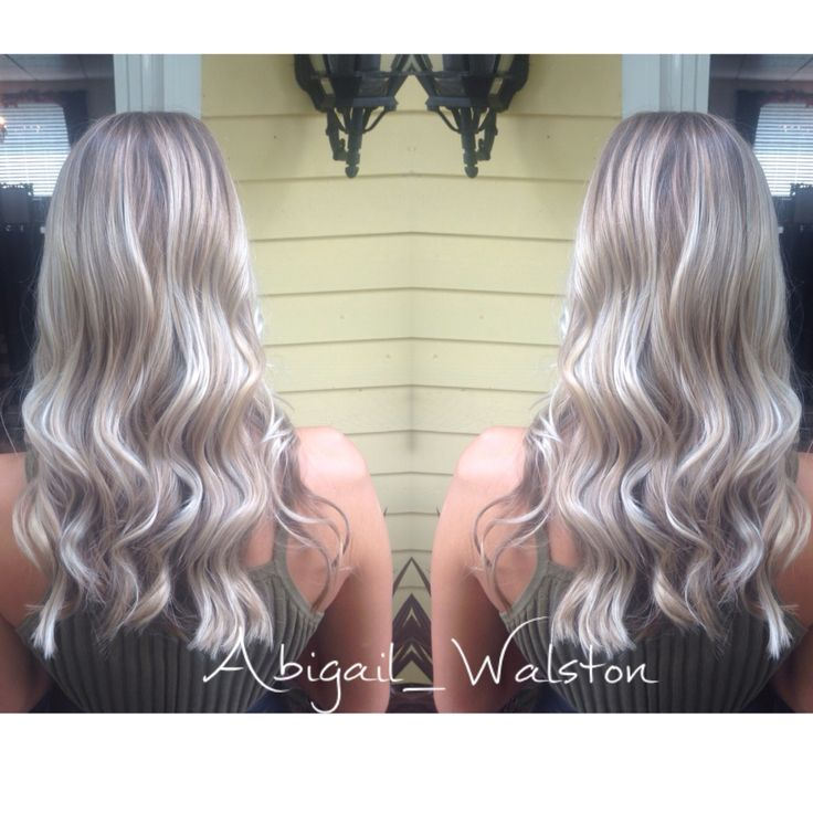 Cool balayage highlights/Smudge color I did. Ashy blonde tones are so gorgeous. Perfect low maintenance color