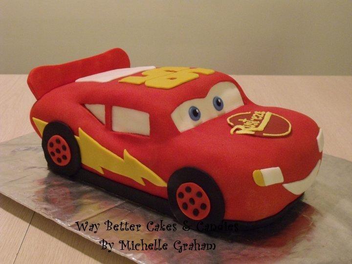 lightning mcqueen birthday cake - Google Search