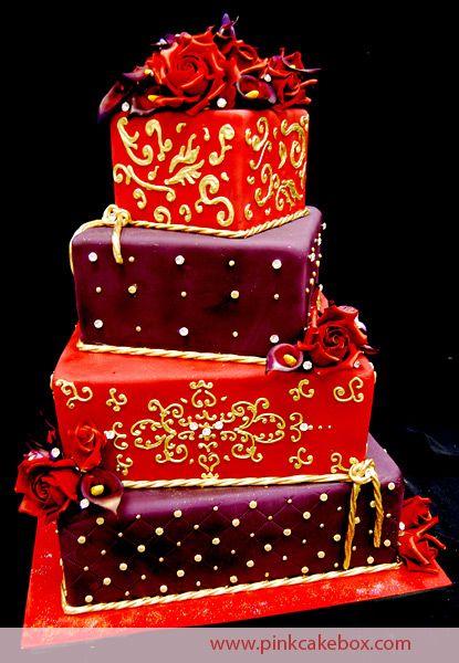 Damask Wedding Cake by Pink Cake Box
