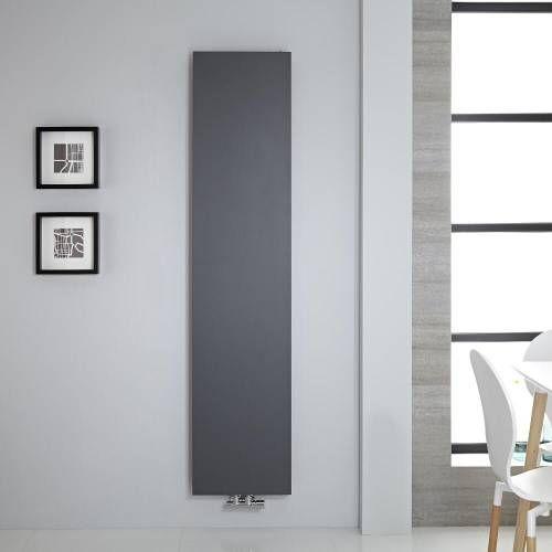 Hudson Reed Design Flachheizkörper Vertikal Anthrazit 1800mm x 400mm 842W - Rubi