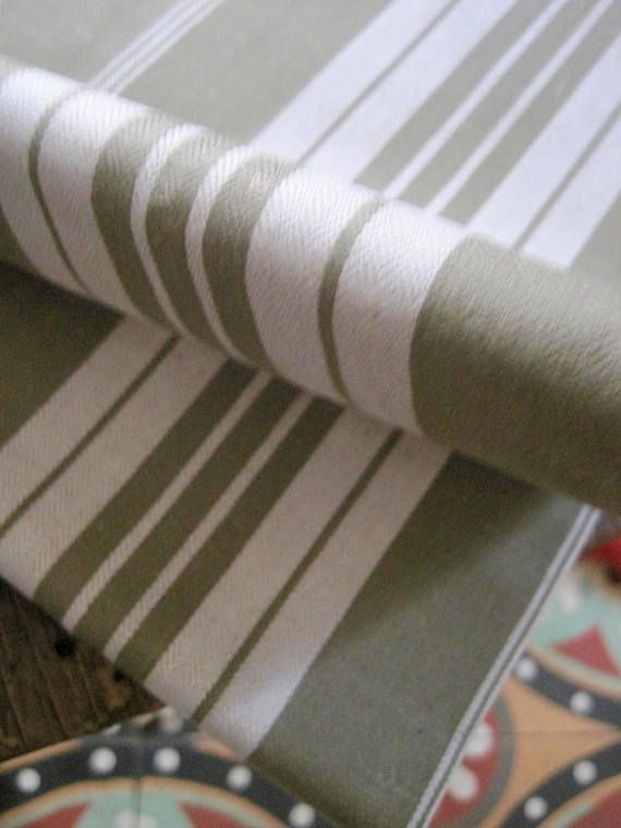 French Ticking Fabric, French Toile A Matelas, Vintage Ticking, Striped Ticking, French Metis, French Textile, Striped Metis, NOS Fabric