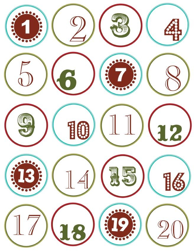 Calendar Number Printables : Chiffres calendrier de l avent pin now read later