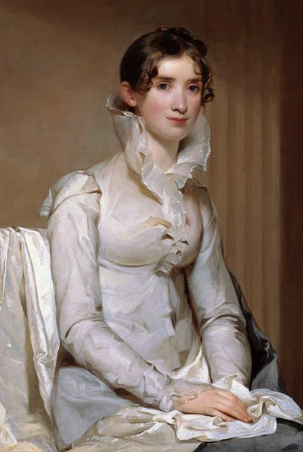 An arresting style, very elegant. Mrs. Klapp (Anna Milnor), 1814 - by Thomas Sully (1783 - 1872)