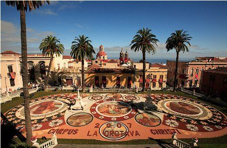 Flower Carpets for Corpus Christie, La Orotava, Tenerife, Canary Islands