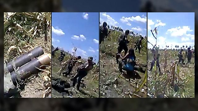 'OVERKILL.' Screenshots from the video showing the aftermath of the Mamasapano clash, where police commandos murdered in what the PNP OIC calls an 'overkill.'