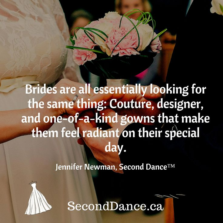 Brides are all essentially looking for the same thing: Couture, designer, and one-of-a-kind gowns that make them feel radiant on their special day. Jennifer Newman, Second Dance™  #bride #bridal #wedding #weddingdress #bridalgown #weddinggown #GTA #Niagara #Toronto #Hamilton #Buffalo #NewYork #WesternNewYork #Kitchener #Waterloo #engagement #fiancee #proposal #weddingtrends #DIY #budget