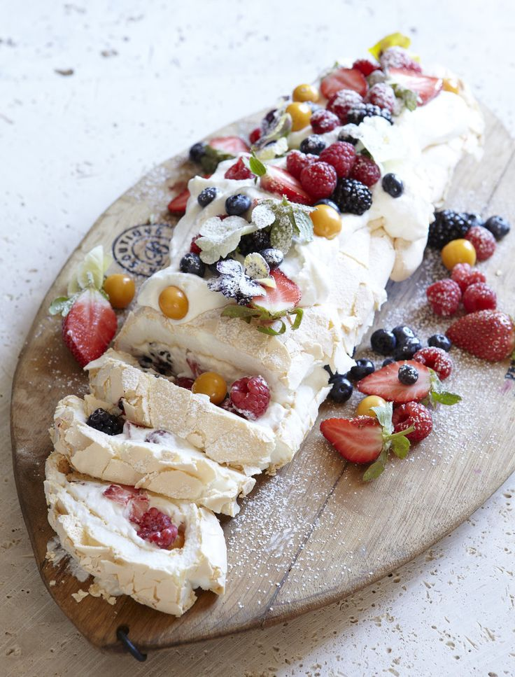 This is a gorgeous confection of marshmallowy meringue, plenty of summer berries and whipped cream. Add a good splash of Baileys Irish cream liqueur for a little sophistication. Created by Rozanne Stevens